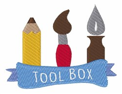 Tool Box embroidery design