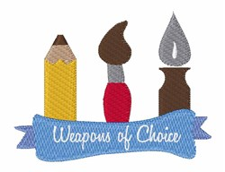 Weapons of Choice embroidery design