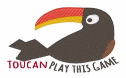 Toucan Play embroidery design