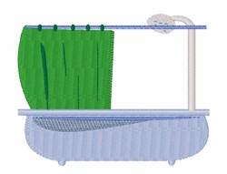 Shower Bathroom embroidery design