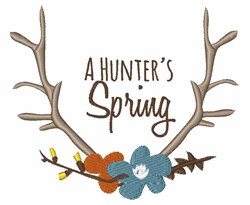 Hunters Spring embroidery design