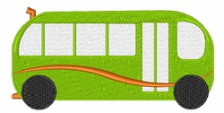 Green Bus embroidery design