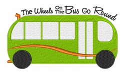 Wheels On Bus embroidery design
