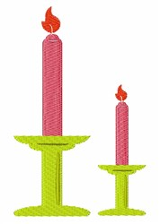 Two Candles embroidery design