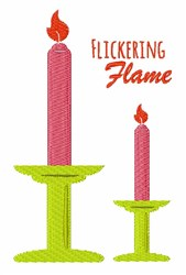 Flickering Flame embroidery design