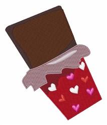 Valentine Chocolate embroidery design