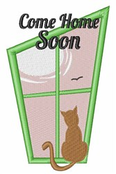 Come Home Soon embroidery design