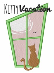 Kitty Vacation embroidery design