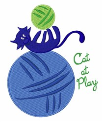 Cat At Play embroidery design