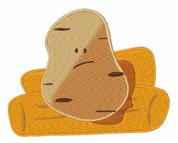 Couch Potato embroidery design