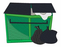 Garbage Dumpster embroidery design