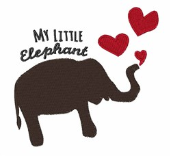 My Elephant embroidery design