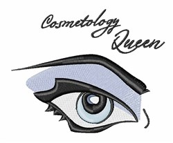 Cosmotology Queen embroidery design