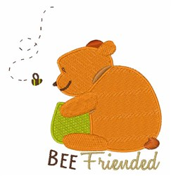 Bee Friended embroidery design