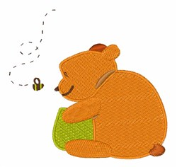 Bee & Bear embroidery design