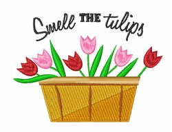 Smell The Tulips embroidery design