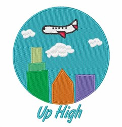 Up High embroidery design