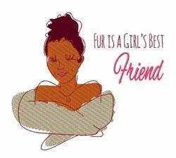 Girls Best Friend embroidery design