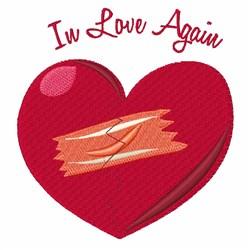 In Love Again embroidery design