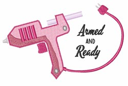 Armed And Ready embroidery design