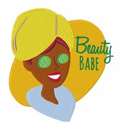 Beauty Babe embroidery design