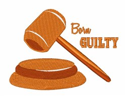 Born Guilty embroidery design