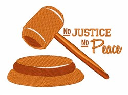 No Justice embroidery design