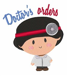 Doctors Orders embroidery design