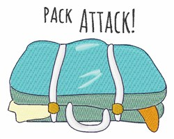 Pack Attack embroidery design