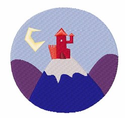 Castle On Hill embroidery design