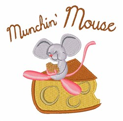 Munchin Mouse embroidery design