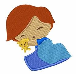 Sleepy Boy embroidery design