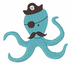 Octopus Pirate embroidery design