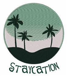 Staycation embroidery design