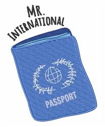 Mr International embroidery design