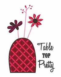 Table Top Pretty embroidery design