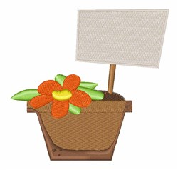 Flower Planter embroidery design