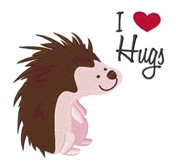 I Love Hugs embroidery design