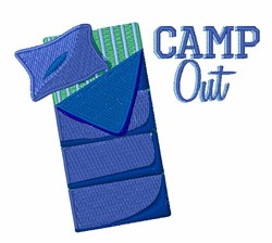 Camp Out embroidery design