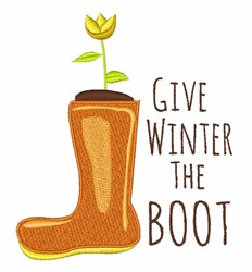 Winter The Boot embroidery design
