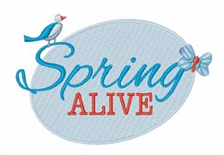 Spring Alive embroidery design