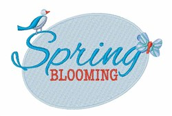 Spring Blooming embroidery design