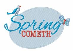 Spring Cometh embroidery design