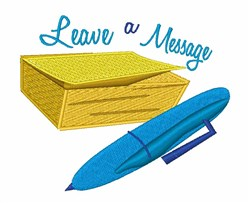 Leave A Message embroidery design