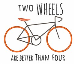 Two Wheels embroidery design