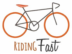 Riding Fast embroidery design