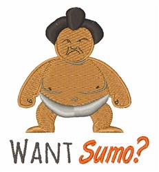 Want Sumo embroidery design