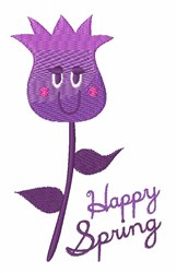Happy Spring embroidery design