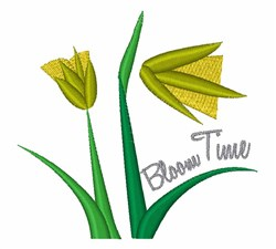 Bloom Time embroidery design