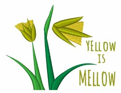 Yellow Is Mellow embroidery design